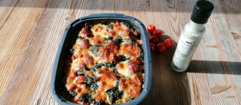 gnocchi auflauf mit spinat und tomaten